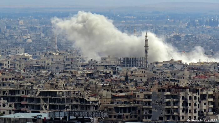 Syrien Ost-Ghouta Explosions-Wolke (Getty Images/AFP)