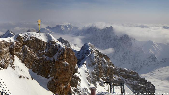 A record-low temperature of -30.4C was recorded on Germany's highest mountain, Zugspitze on Tuesday night