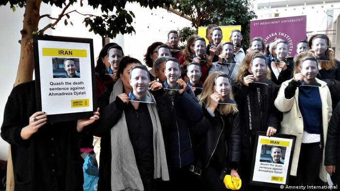 Schweden Demonstration für Ahmadreza Djalali