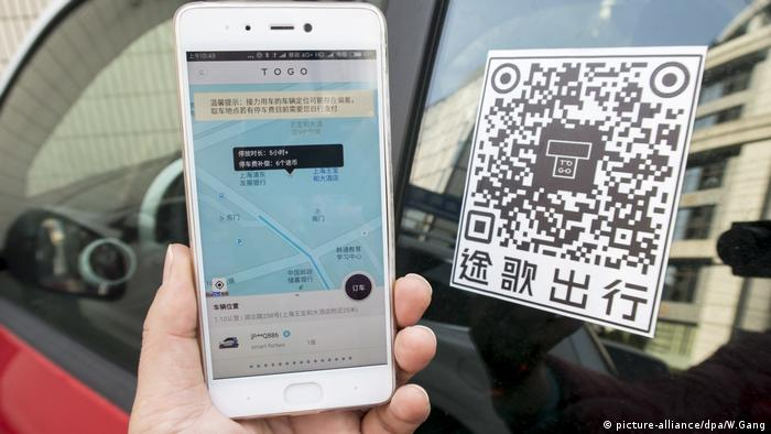 TOGO, car-sharing in Shanghai (picture-alliance/dpa/W.Gang)