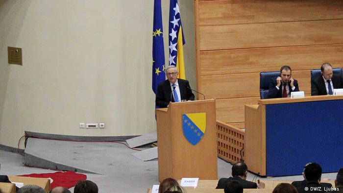 Bosnien Bemühung des Landes EU-Mitglied zu werden