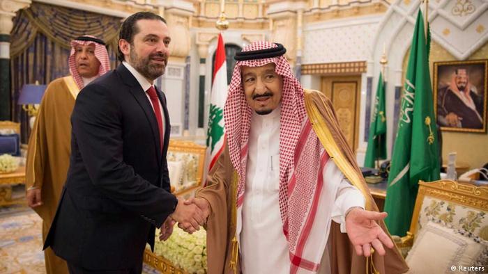 König Salmans Treffen mit Saad al-Hariri (Reuters)