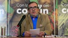 28.02.2018+++ Colombia's FARC (Revolutionary Armed Forces of Colombia) leader and presidential candidate Rodrigo Londono, also known as Timochenko, speaks during a news conference in Bogota, Colombia February 28, 2018. REUTERS/Jaime Saldarriaga