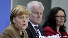 Berlin PK Merkel Seeehofer Nahles (picture-alliance/AP/M. Sohn)