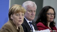 Berlin PK Merkel Seeehofer Nahles