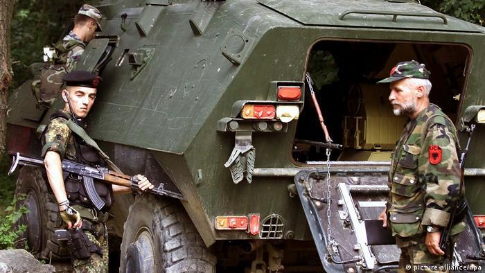Mazedonien Krieg 2001 UCK Rebellen bei Radusa