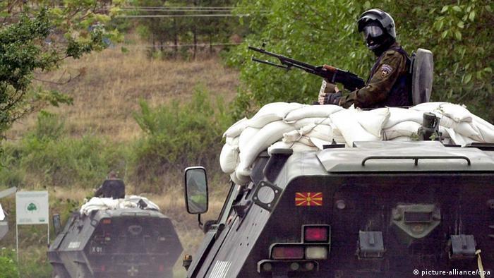 Mazedonien Krieg 2001 Tiger-Einheit bei Radusa