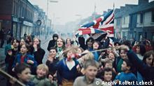 Demonstration protestantischer Kinder gegen die britische Armee, Belfast, Ende 1968