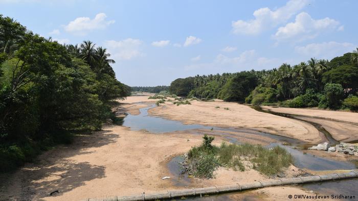 Indien Fluss Kaveri versiegt