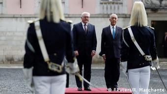 Portugal Lissabon - Frank-Walter Steinmeier und Marcelo Rebelo de Sousa