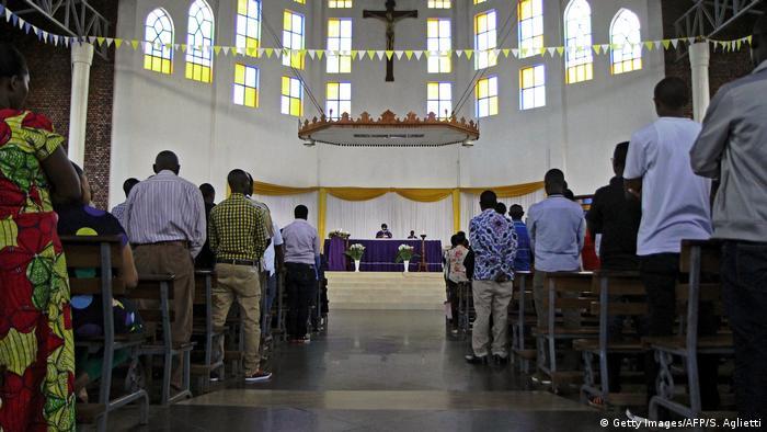 Worshippers at a Rwandan church in Kigali