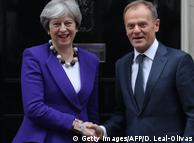 Тереза Мей та Дональд Туск не можуть дійти згоди щодо стосунків Великобританії з ЄС після Brexit