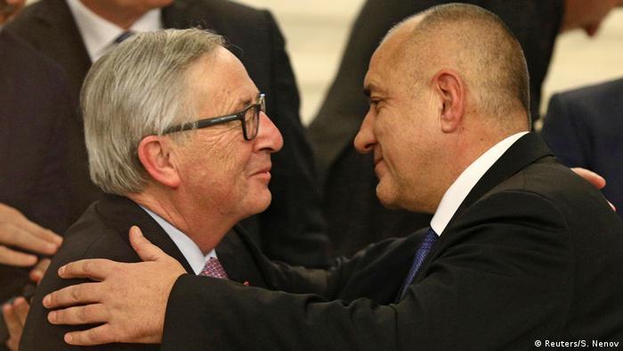 Bulgarien Juncker und Borissov in Sofia