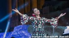 ARCHIV 2016 +++ Egyptian singer Shirin Abed al-Wahab aka Sherine performs on the main stage during the annual Baalbeck International Festival (BIF), in Baalbeck, Beqaa Valley, Lebanon, 26 August 2016 (issued 27 August). The festival runs from 22 July to 28 August. EPA/WAEL HAMZEH +++(c) dpa - Bildfunk+++ |
