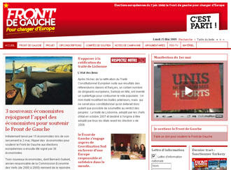 Die Homepage der Linksfront (Foto: Screenshot)