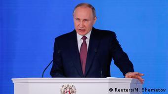 Russland Putin hält kurz vor Wahl traditionelle Jahresansprache (Reuters/M. Shemetov)