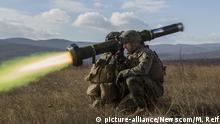Bulgarien US-Marines schießen Panzerabwehrrakete Javelin
