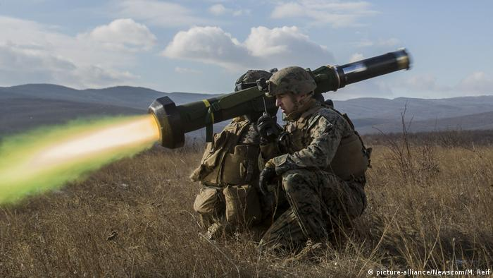 Us soldiers fired a javeline missile