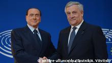 Frankreich ehem. Ministerpräsident von Italien Silvio Berlusconi und Präsident des EU-Parlaments Antonio Tajani