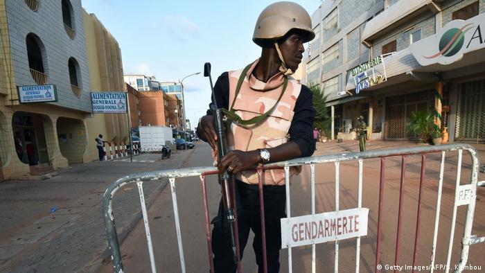 Burkina Faso Ouagadougou Sicherheitskräfte nach Terror-Attacke