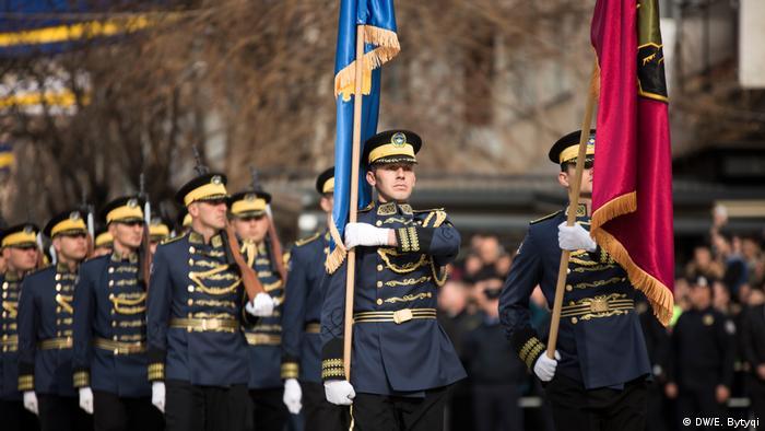 Kosovo Pristina - Feierlichkeiten in Pristina zum 10. Jahrestag der Unabhängigkeit Kosovos am 17.02.2018 (DW/E. Bytyqi)