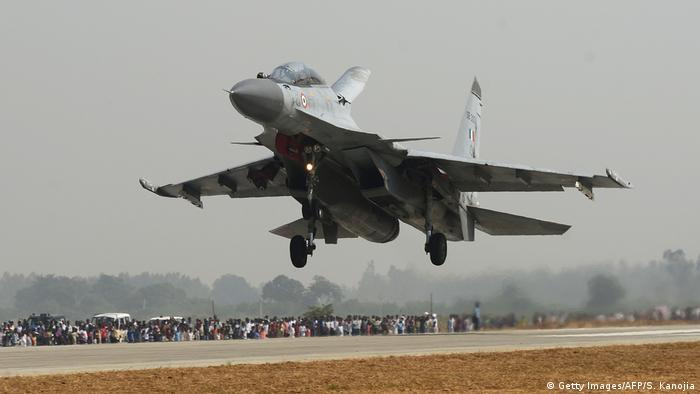 Indien Uttar Pradesh - Indian Air Force Sukhoi Su-30MKI Kampfjet