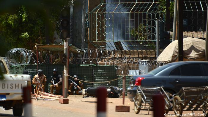 Security personnel during the attack in Ouagadougou