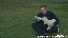 Last Easter, in an attempt to soften his image as he eyed a return to poltics, Berlusconi took part in an ad promoting vegetarianism that featured him snuggling lambs in soft lighting overlaid with easy listening music. Although Berlusconi is barred from seeking office for another year due to a fraud convinction, a bloc led by his Forza Italia party has been polling strongly.