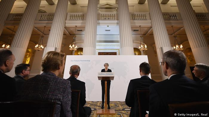 Großbritannien London - Theresa May hält Rede zum Brexit (Getty Images/L. Neal)