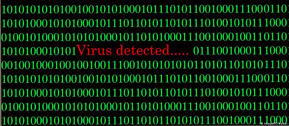 Symbolbild Virenalarm Cybercrime Computerkriminalität Datenschutz