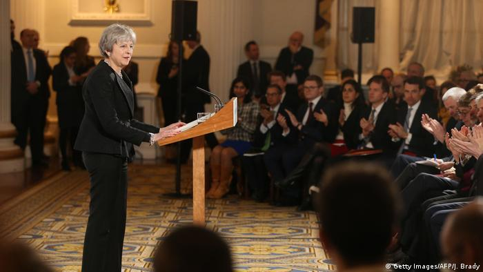 Großbritannien London - Theresa May hält Rede zum Brexit NEU (Getty Images/AFP/J. Brady)