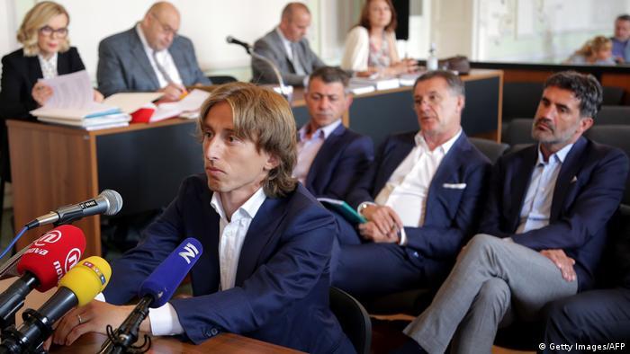 Kroatien | Fußballer Luka Modric der Falschaussage beschuldigt