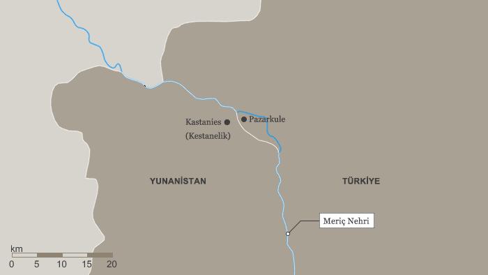 İki asker Yunanistan'ın Kastanies karakolunda görev yapıyordu.