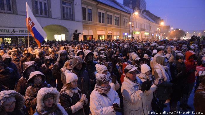 Slowakei Proteste wegen Ermordung von Journalisten