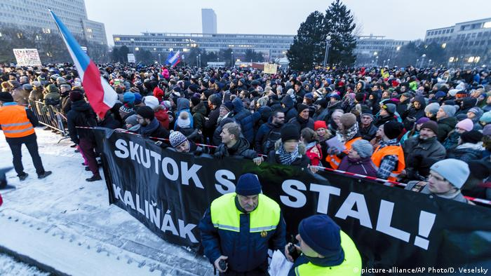 Protesters gather in Slovakia