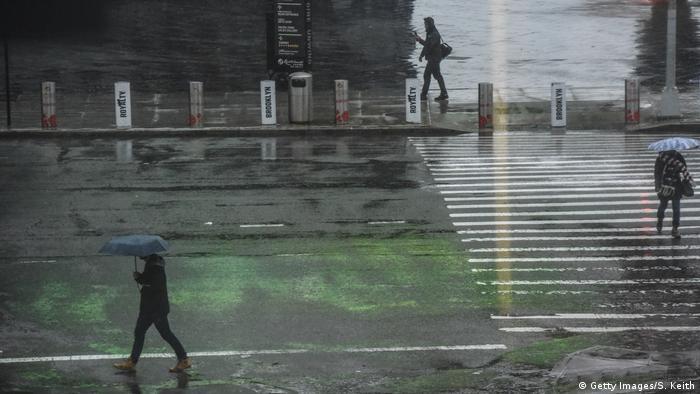 Storm in Brooklyn, New York City