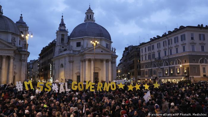 M5S supporters gather in Rome