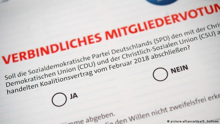 SPD Mitgliederentscheid Große Koalition - Symbolbild