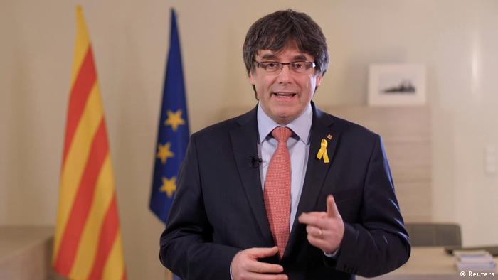 Carles Puigdemont, Ansprache