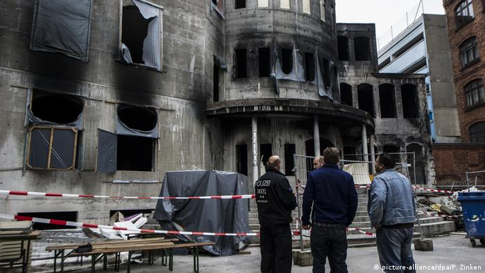Arson attack on a mosque in Berlin 2014