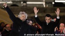 Abschlusskundgebungen der italienischen Parteien M5S 5 Sterne mit Kandidat Luigi Di Maio