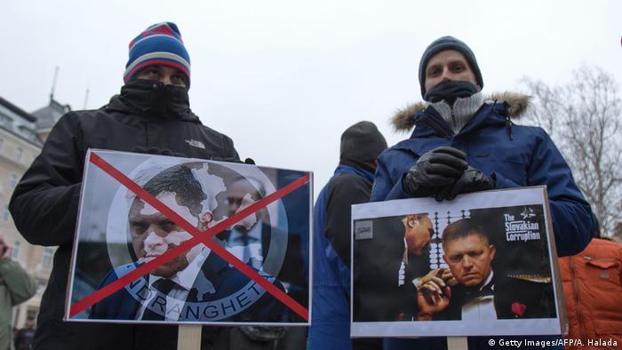 Ciudadanos eslovacos piden justicia por el asesinato de periodista y su novia.