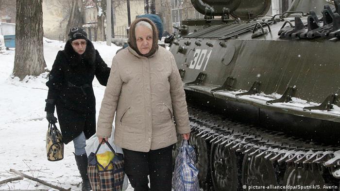Украина, эвакуация гражданских лиц (фото из архива)