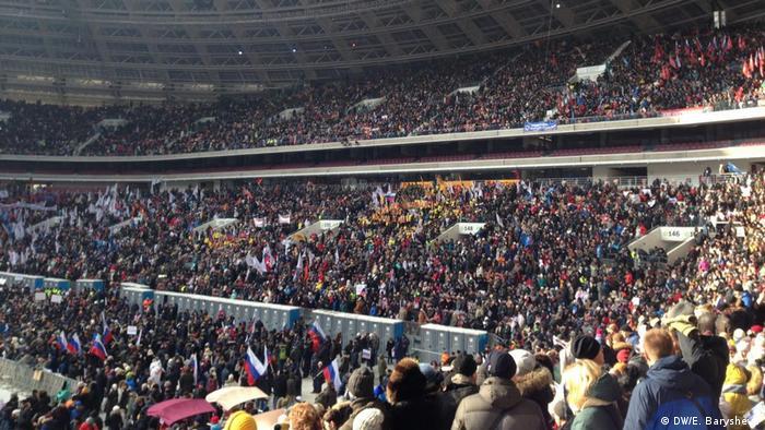 Grosse Kundgebung für Putin in Moskau (DW/E. Barysheva )