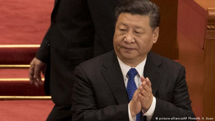 Chinese President Xi Jinping in Beijing's Great Hall of the People