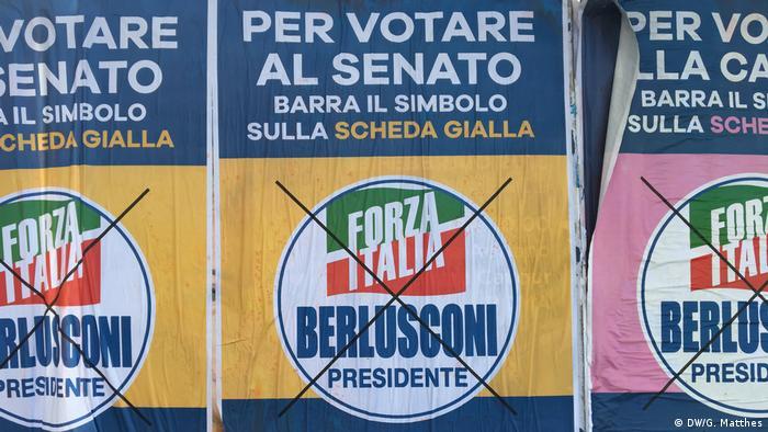 Italien Wahlplakate für Presidente Silvio Berlusconi (DW/G. Matthes)