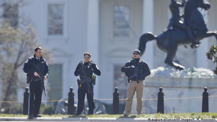 USA Lockdown Weißes Haus in Washington (picture-alliance/AP Images/P. M. Monsivais)