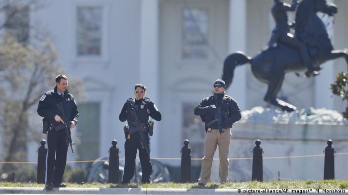 USA Lockdown Weißes Haus in Washington (picture-alliance/AP Images/P. M. Monsivais)