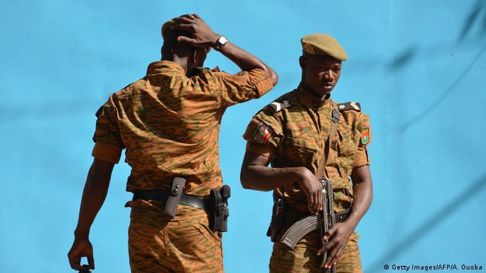 Burkinabe men on patrol