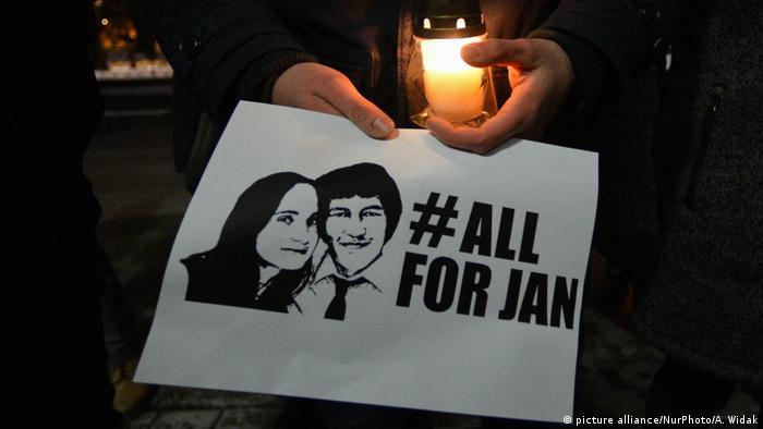 Slowakei Ermordeter Journalist Kuciak beigesetzt (picture alliance/NurPhoto/A. Widak)